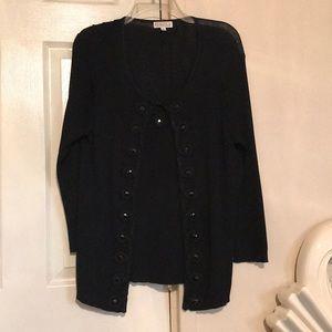 EUC Joseph A Black Short Jacket Attached sz XL